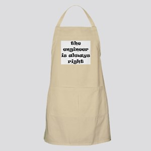 engineer always right Apron