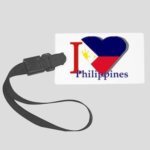 I love Philippines Large Luggage Tag