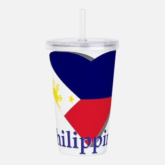 I love Philippines Acrylic Double-wall Tumbler