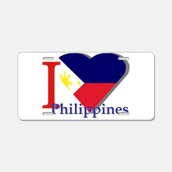 I love Philippines Aluminum License Plate