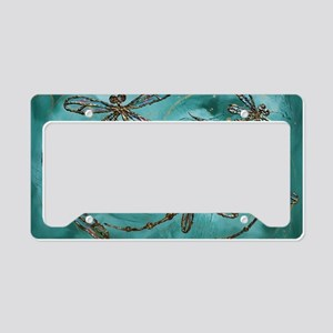Dragonfly Flit Myrtle Green  License Plate Holder
