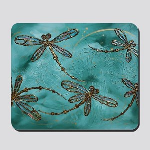 Dragonfly Flit Myrtle Green  Mousepad
