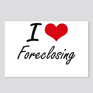 I love Foreclosing Postcards (Package of 8)