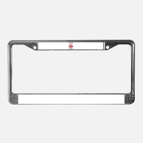 Unique Karate License Plate Frame