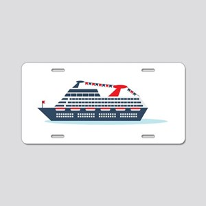 Cruise Ship Aluminum License Plate