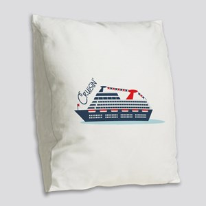 Cruisin Burlap Throw Pillow
