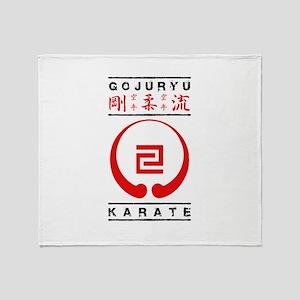 Gojuryu Symbol and text Throw Blanket