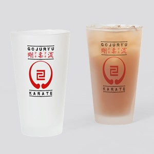 Gojuryu Symbol and text Drinking Glass