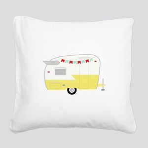 Vintage Camper Square Canvas Pillow