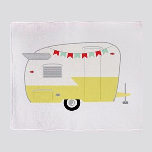 Vintage Camper Throw Blanket