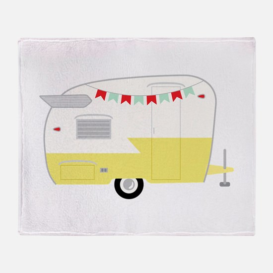 Vintage Camper Throw Blanket