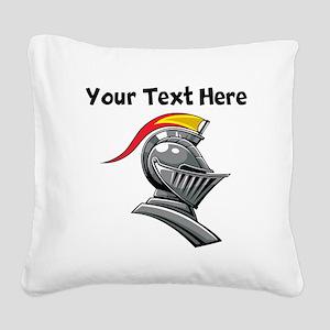 Medieval Soldier Helmet Square Canvas Pillow