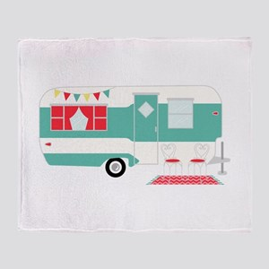 Retro Camper Throw Blanket