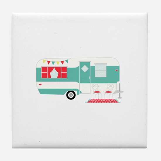 Retro Camper Tile Coaster