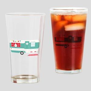 Retro Camper Drinking Glass