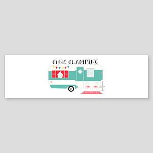 Gone Glamping Bumper Sticker