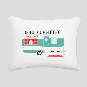 Gone Glamping Rectangular Canvas Pillow
