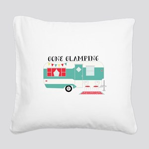 Gone Glamping Square Canvas Pillow
