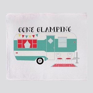 Gone Glamping Throw Blanket