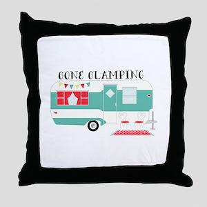 Gone Glamping Throw Pillow