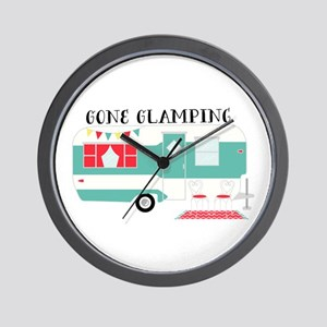 Gone Glamping Wall Clock