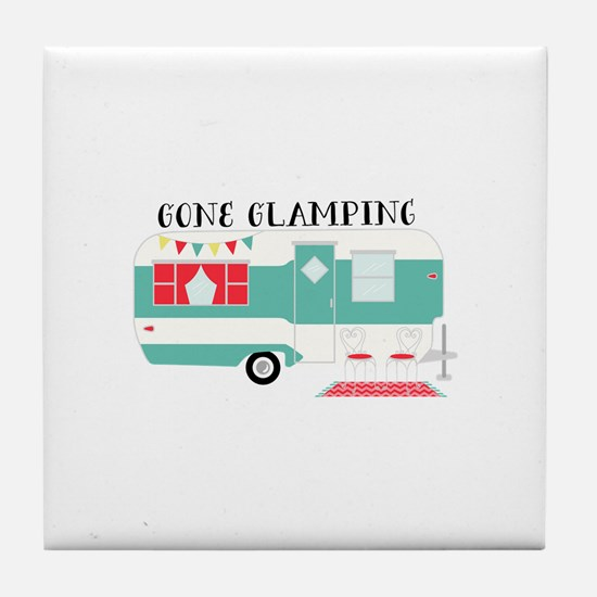 Gone Glamping Tile Coaster