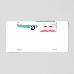 Camper Life Aluminum License Plate