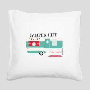Camper Life Square Canvas Pillow