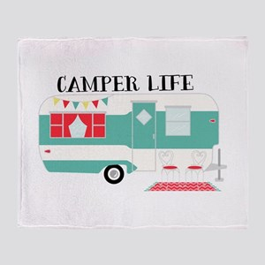 Camper Life Throw Blanket