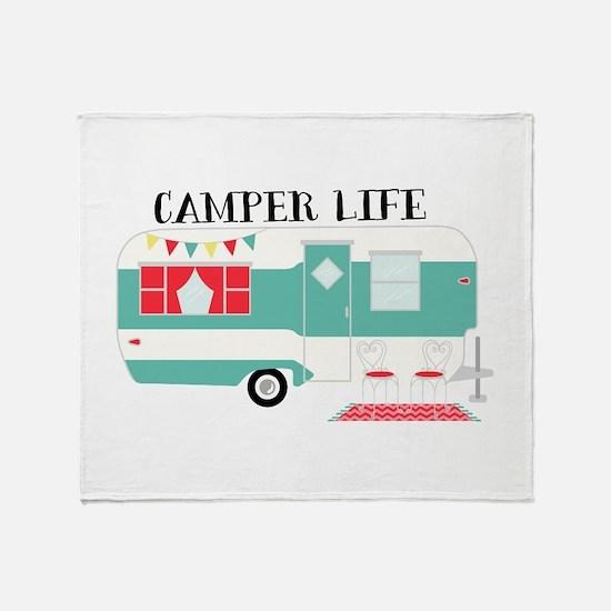 Camper Life Throw Blanket