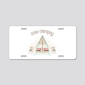 Gone Glamping Aluminum License Plate