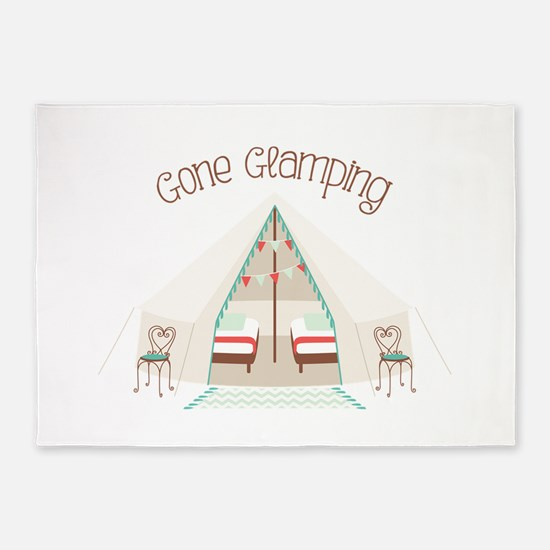 Gone Glamping 5'x7'Area Rug