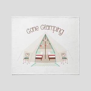 Gone Glamping Throw Blanket