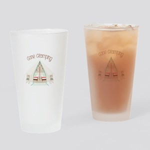 Gone Glamping Drinking Glass