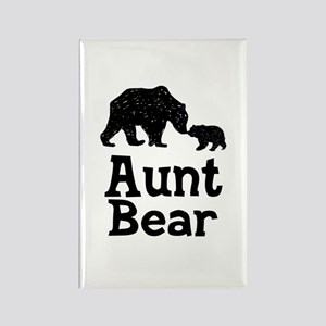 Aunt Bear Rectangle Magnet