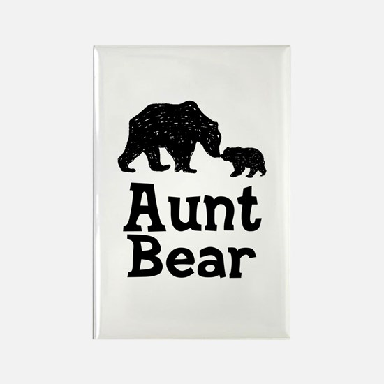 Aunt Bear Rectangle Magnet