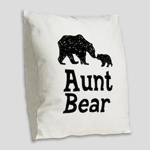 Aunt Bear Burlap Throw Pillow