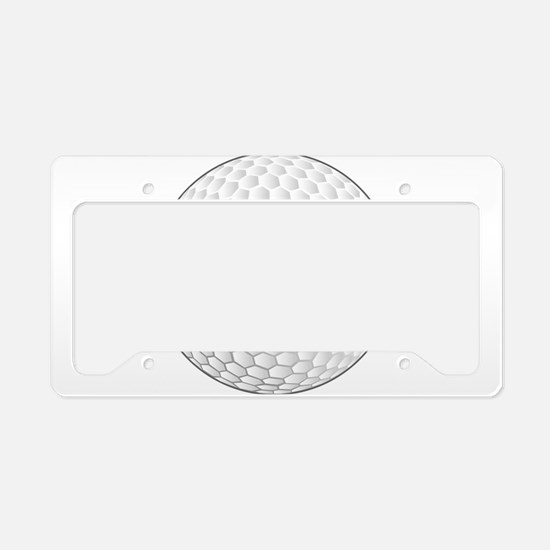 Golf Ball License Plate Holder