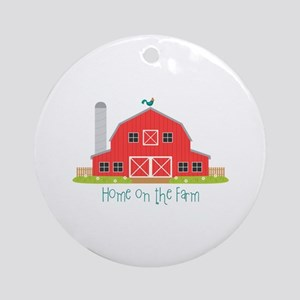 Home On The Farm Round Ornament