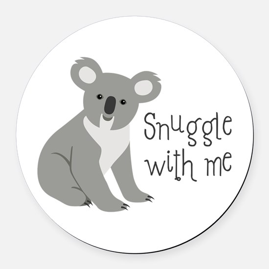 Snuggle With Me Round Car Magnet