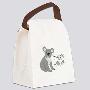 Snuggle With Me Canvas Lunch Bag