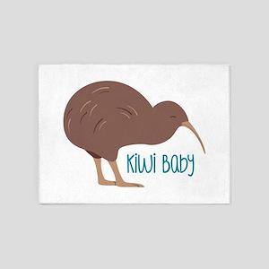 Kiwi Baby 5'x7'Area Rug