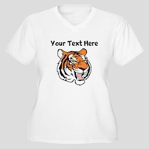 Tiger Head Plus Size T-Shirt