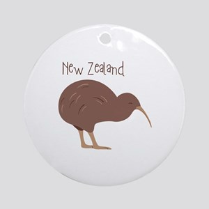 New Zealand Bird Round Ornament