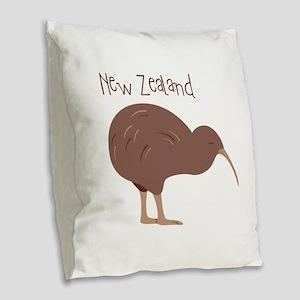 New Zealand Bird Burlap Throw Pillow