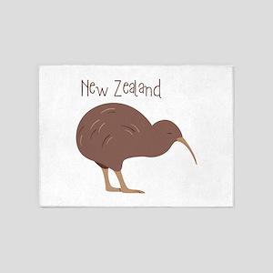 New Zealand Bird 5'x7'Area Rug