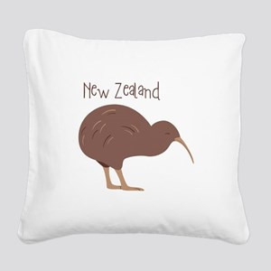 New Zealand Bird Square Canvas Pillow