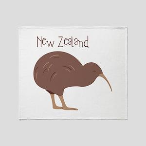 New Zealand Bird Throw Blanket