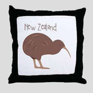 New Zealand Bird Throw Pillow