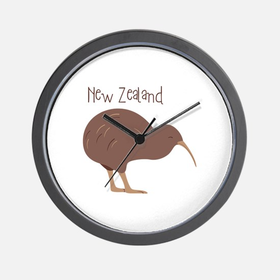 New Zealand Bird Wall Clock